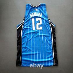 100% Authentic Dwight Howard Adidas Magic 09 10 Game Worn Signed Jersey used