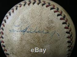 1920's BABE RUTH & LOU GEHRIG SIGNED BASEBALL GAME USED BALL PSA/DNA CERT