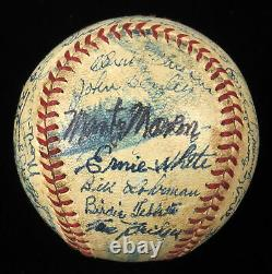 1942 St. Louis Cardinals World Series Champs Team Signed Game Used Baseball BAS
