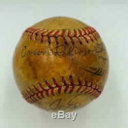 1948 Barnstorming Multi Signed Game Used Baseball Enos Slaughter Joe Page