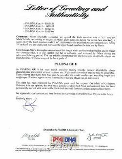 1967 Roger Maris Signed Game Used World Series Champion Season Bat Psa Loa