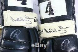 1970's BOBBY ORR SIGNED PLAYER WORN BRUINS/ BRAVES GAME USED HOCKEY GLOVES PSA