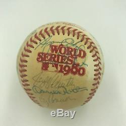 1980 Kansas City Royals Team Signed World Series Game Used Baseball PSA DNA COA