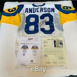 1980's Flipper Anderson Signed Rookie Game Used Los Angeles Rams Jersey JSA COA