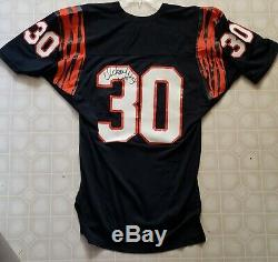 1980s Cincinnati Bengals Ickey Woods signed GAME USED ISSUED Jersey AUTO
