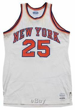 1983-84 Bill Cartwright Game Used Signed New York Knicks Home Jersey JSA COA