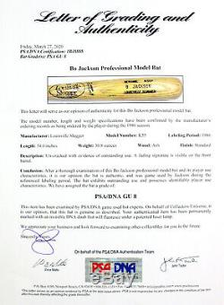1986 Bo Jackson K. C. Royals Signed Game Used Rookie Bat Earliest Bo Bat In Hobby
