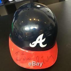 1990's Greg Maddux Signed Game Used Atlanta Braves Authentic Helmet JSA COA