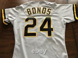1991 Barry Bonds Game Worn Used & Signed Pirates Baseball Jersey
