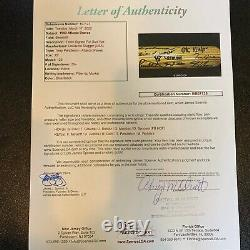 1993 Atlanta Braves Team Signed Game Used Bat Maddux Smoltz Deion Sanders JSA