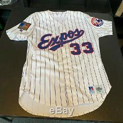 1994 Larry Walker Signed Game Used Montreal Expos Jersey With JSA COA RARE