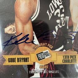 1996 Press Pass Kobe Bryant RC Rookie Auto BGS 9/10 Game Used Jersey Patch GGUM