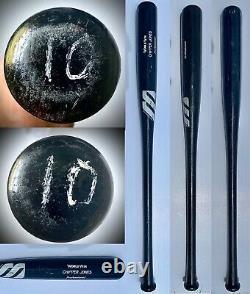 1998 Signed Chipper Jones Game Used Bat Photomatched Atlanta Braves HOF