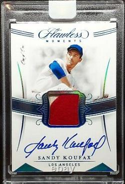 1/1 SANDY KOUFAX PLATINUM 2020 Flawless ON CARD Auto GAME USED Relic AMAZING