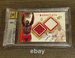 2000 SPx Michael Jordan #MJA1 Winning Materials Game Jersey AUTO BGS 9/10 Mint