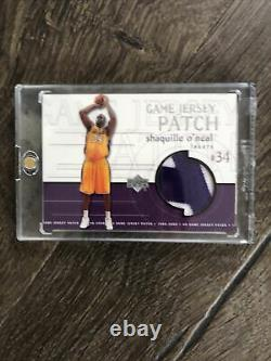 2000 upper deck Shaquille ONeil Game Used Jersey Patch GJP22