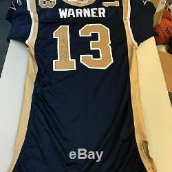 2001 Kurt Warner Game Used Signed St. Louis Rams Jersey JSA COA