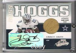 2001 Playoff Absolute Boss Hoggs Emmitt Smith Auto Autograph Game Used Shoe /25
