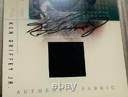 2001 Upper Deck Ken Griffey Jr Auto Sp Game Used Signed Jersey Autograph