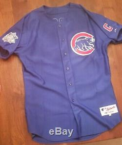 2002 Sammy Sosa Signed Blue Road Game Used HR Jersey Chicago Cubs with Sosa COA