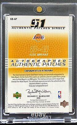 2003-04 Kobe Bryant Upper Deck Sp Game Used Patch Auto /50 Ultra Rare Lakers SP