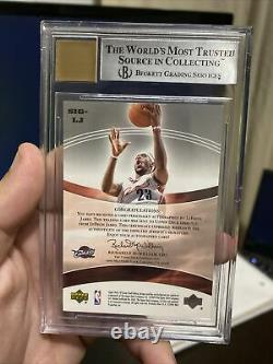 2004-05 SP Game Used LeBron James Significance Auto 42/100 BGS 9/10