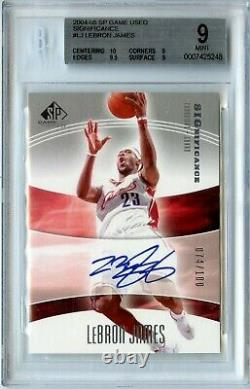 2004-05 SP Game Used LeBron James Significance Auto 74/100 BGS 9/10.5 From Gem