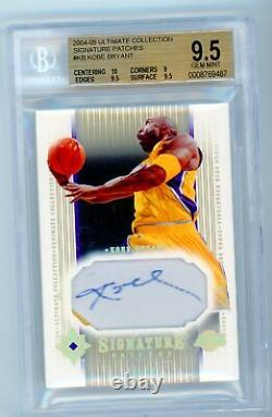 2004/05 Ultimate Kobe Bryant Auto Autograph Game Used Patch Jersey Bgs 9.5 10