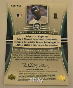 2004 SP Game Used KEN GRIFFEY, JR. Significant Numbers AUTO & PATCH 1/50