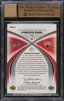 2005 SP Game Used LeBron James & Michael Jordan PATCH AUTO /50 #JJ BGS 9.5 GEM