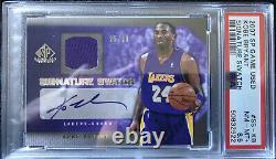 2007-08 Upper Deck SP Game Used Signature Swatch Auto Kobe Bryant /30 PSA Pop 1