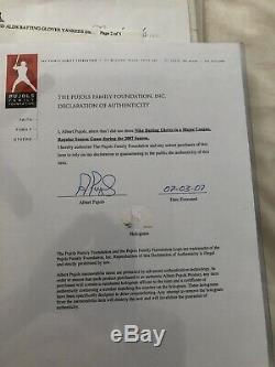 2007 Albert Pujols Signed Game Used Batting Gloves UDA Certified 3x Auto