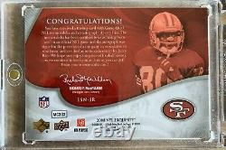 2008 Upper Deck Exquisite Signature Game Used Jersey Numbers Jerry Rice Auto SP