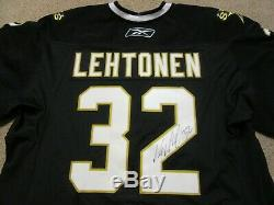 2009-10 Kari Lehtonen Dallas Stars Game Used Worn Hockey Jersey MeiGray Signed