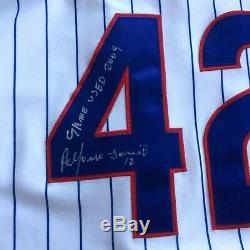 2009 Alfonso Soriano Chicago Cubs Game Used Worn Signed Jersey # 42 Robinson Day