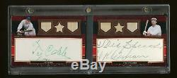 2010 Topps Sterling Ty Cobb & Tris Speaker Game-Used Bat Signed Cut Auto 1/1