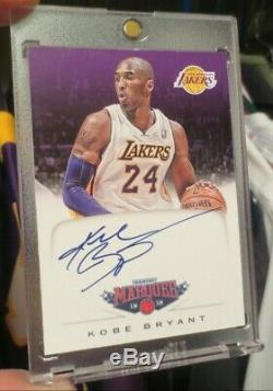 2012-13 Panini KOBE BRYANT Marquee ON CARD AUTO + Dual 3-Color GAME USED Jersey