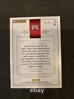 2013-14 Panini National Treasures Scottie Pippen Game Changers Auto #15/60