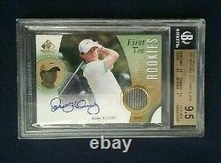 2014 SP Game Used Golf Rory McIlroy First Tee Rookies Auto /199 BGS 9.5 Auto 9
