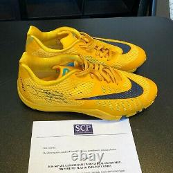 2015-16 Paul George Game Used Signed Nike Hyperlive Shoes Sneakers Beckett COA