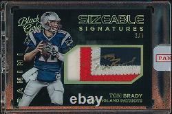 2015 Black Gold Football Tom Brady PATRIOTS #SS-TB Game Used Patch Auto /5