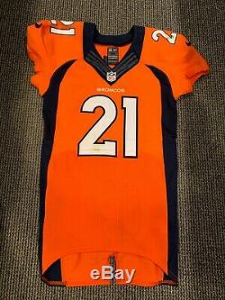 2016 Aqib Talib Denver Broncos Game Used Signed Jersey No Fly Zone Sb 50 Champs