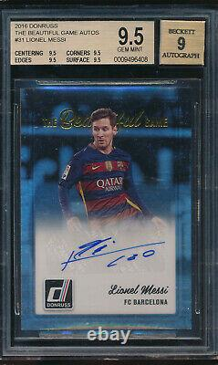 2016 Donruss The Beautiful Game Auto Lionel Messi BGS 9.5