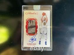 2017-18 panini flawless patch auto game worn stephen curry 5/15