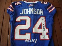 2017 Nike Leonard Johnson Buffalo Bills Game Used Signed Auto Football Jersey