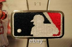 2017 Topps Diamond Icons MIKE TROUT Logoman MLB SILHOUETTE Game Worn! MVP 1/1
