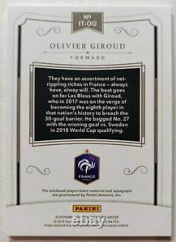2018 National Treasures Soccer Olivier Giroud Auto /25! Game Used! France