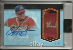 2018 Topps Dynasty Chipper Jones Gold Game Used Patch Auto Signed Patch #/5