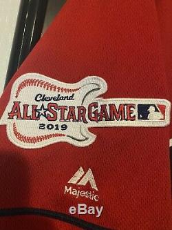 2019 Yasiel Puig Game Used Autographed Signed Cleveland Indians Majestic Jersey