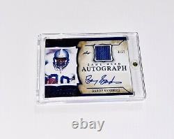 2020 Leaf Barry Sanders #d 3/12 Auto SP Blue Foil Game Used Jersey Autograph